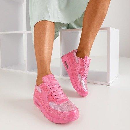 Pink Evanciia Glitter Trainers - Обувь