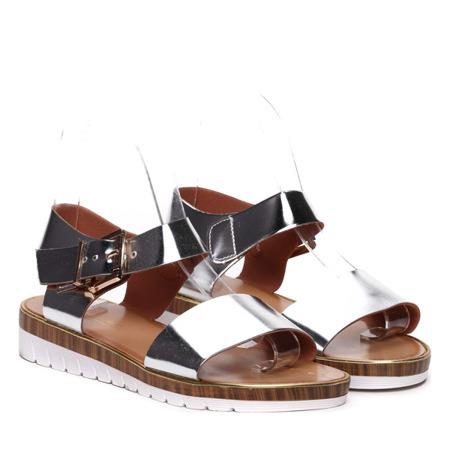 Srebrne sandały  - Obuwie
