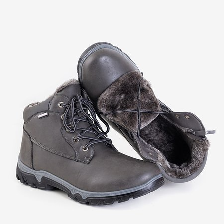 Трекинговые кроссовки Huraw темно-серые мужские - обувь