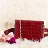 Женская сумка почек бордового цвета - Сумки