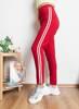 Красные спортивные штаны в полоску - Одежда