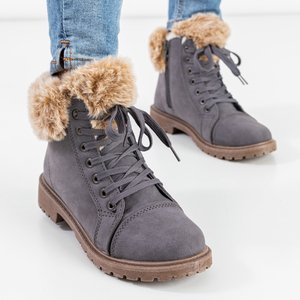Сапоги женские темно-серые утепленные Зоневка - Обувь