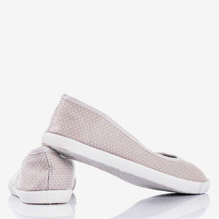 Балетки сірого кольору з крапками Орінара - Взуття 1