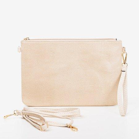 Бежева маленька жіноча сумочка з тисненням для тварин - Сумки 1