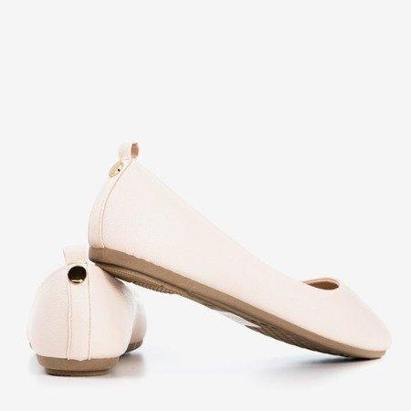 Бежево - рожева жіноча балерина з еко - шкіри Nastis - Взуття 1