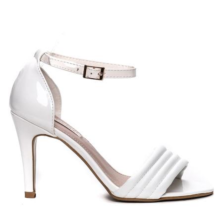 Білі босоніжки на високому каблуці. Взуття 1