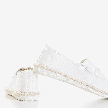 Білі жіночі еспадріли Elmo - Взуття 1