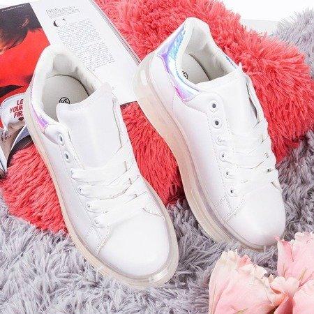 Білі кросівки з голографічною вставкою Judite - Взуття 1