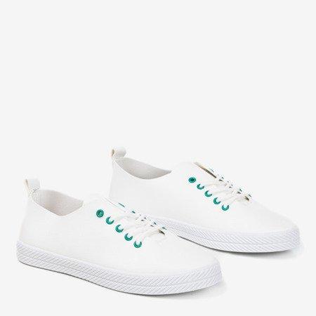 Білі кросівки із зеленими вушками Ewilia - Взуття 1