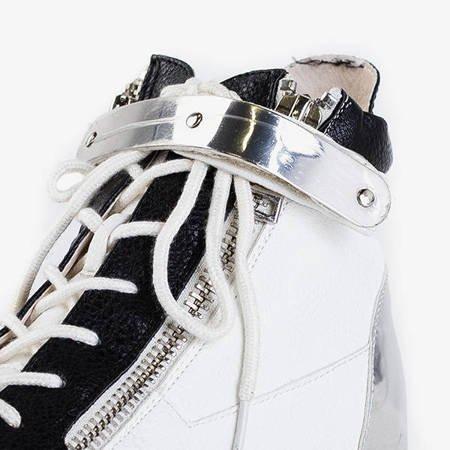 Білі спортивні черевики з чорними вставками Krillas