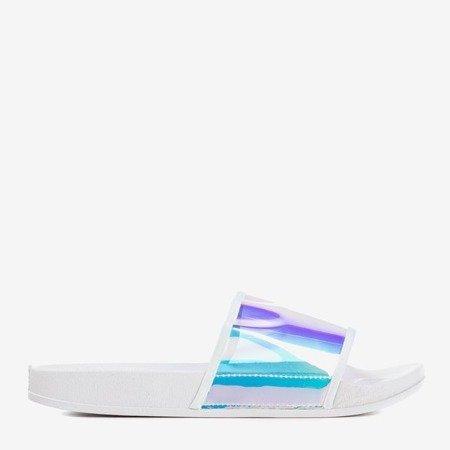 Білі тапочки з голографічною смужкою Activi - Взуття