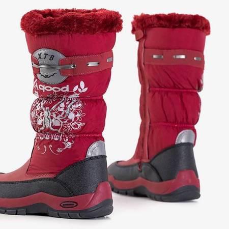 ВИХІД Iana дитячі темно-бордові снігові черевики - Взуття
