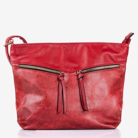 Велика червона наплічна сумка - Сумочки