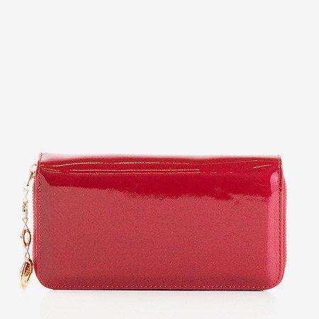 Великий жіночий гаманець у бордовому кольорі - Гаманець