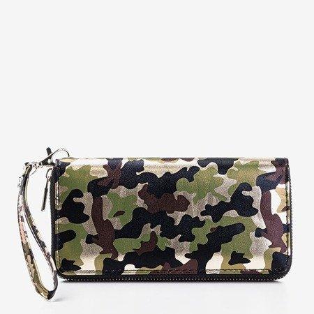Великий зелений жіночий гаманець у вигляді камуфляжу - Гаманець