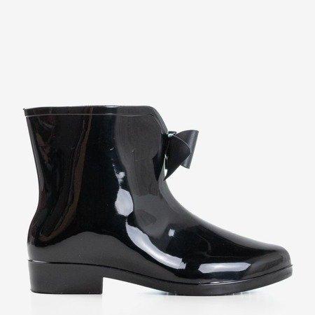 Дамські чорні дощові черевики з бантом Maiya - Взуття