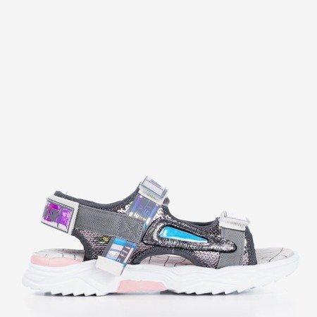 Дитячі босоніжки Frida сірі - Взуття