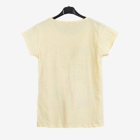 Жовта жіноча футболка з принтом - Блузки 1