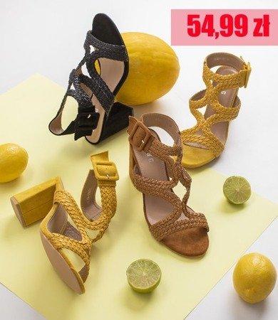 Жовті босоніжки на вищій посаді Viesia - Взуття