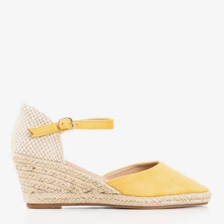 Жовті еспадрилі на клині Літній поцілунок - Взуття 1