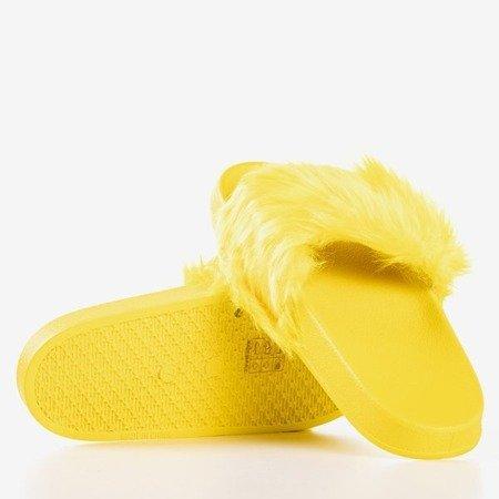 Жовті тапочки з хутром Millie - Взуття