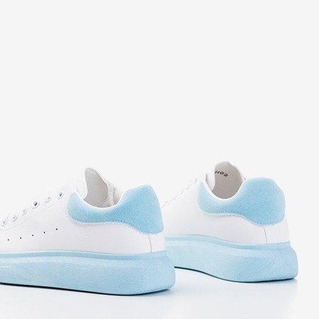 Жіноче біле спортивне взуття з блакитними вставками Gulio - Взуття