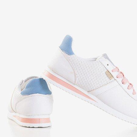 Жіноче біле спортивне взуття з порошковими вставками Dramena - Взуття