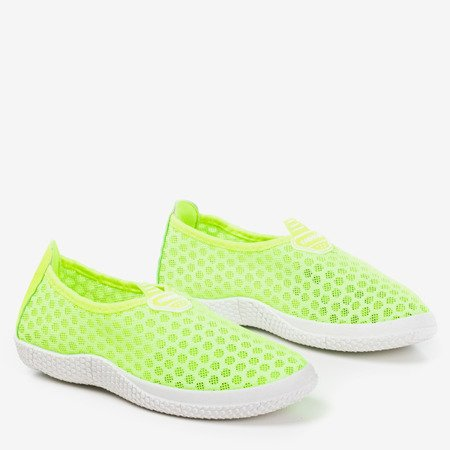 Жіноче взуття з неонового жовтого кольору - на Levenia - Взуття 1