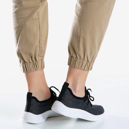 Жіноче чорне спортивне взуття з глянцевим покриттям Epiphania - Взуття