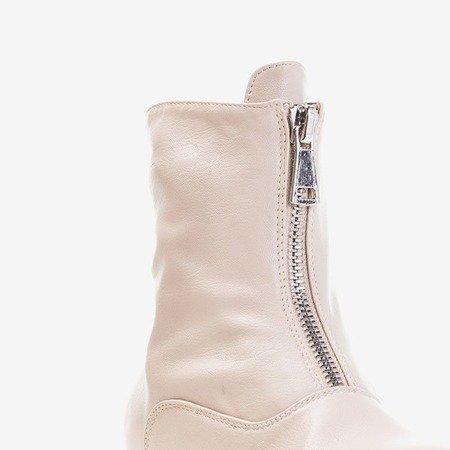 Жіночі бежеві чоботи на підборах Клюнія - Взуття