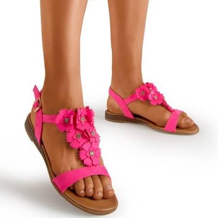 Жіночі босоніжки Fuchsia з квітами Madlen - Взуття