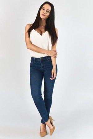 Жіночі джинсові штани з високою талією - Одяг