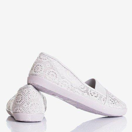 Жіночі мереживні балетки Герміона Сіра - Взуття