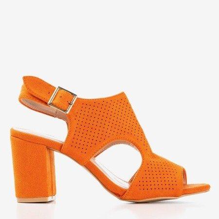 Жіночі помаранчеві босоніжки на вищій стійці з хвостовиком Ilonepa - Взуття