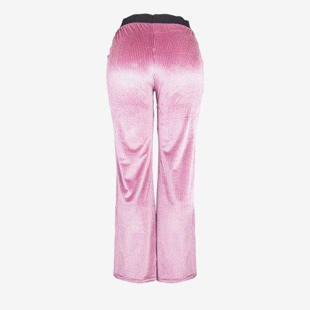 Жіночі рожеві прямі штани - Штани