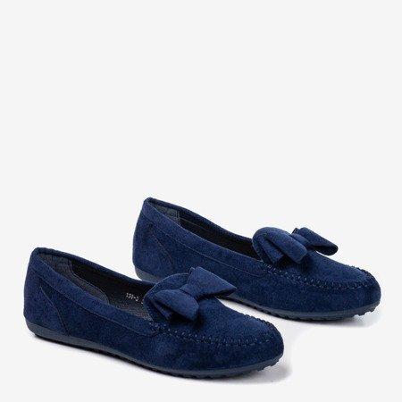 Жіночі темно-сині мокасини з бантом Ursula - Взуття 1