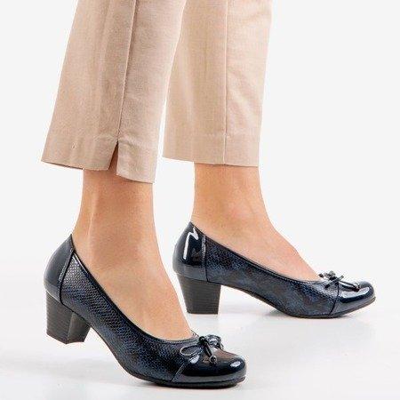 Жіночі темно-сині туфлі на низькій стійці Руелла - Взуття