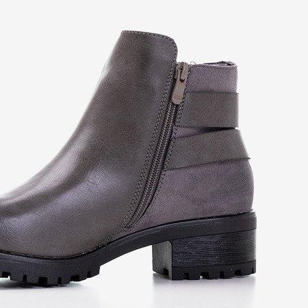 Жіночі чоботи темно-сірі з пряжками Union - Взуття