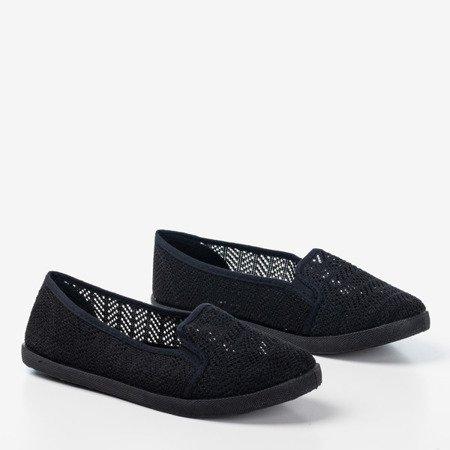 Жіночі чорні ажурні сліпи на Hessani - Взуття