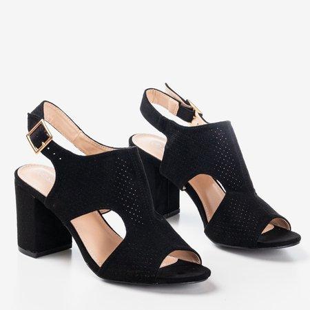 Жіночі чорні босоніжки на вищій стійці з верхом Itemsa - Взуття