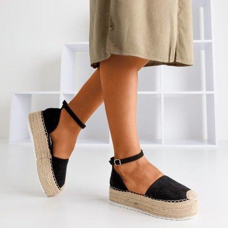 Жіночі чорні еспадриси на платформі Savanto - Взуття