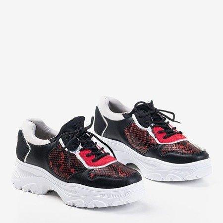 Жіночі чорні кросівки a'la snake skin Annadale - Взуття