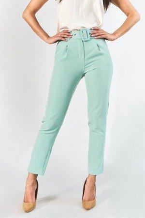 Жіночі штани з м'ятним кольоровим поясом - Одяг 1