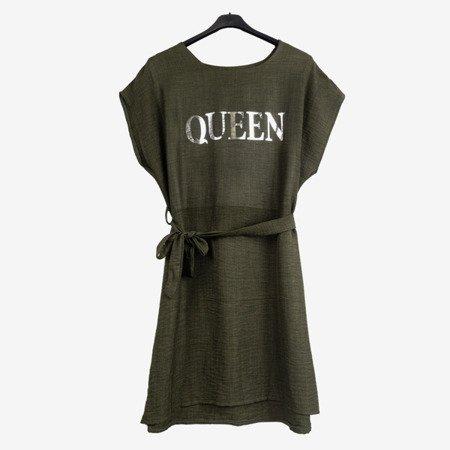 Зелене жіноче плаття з написом - Плаття 1