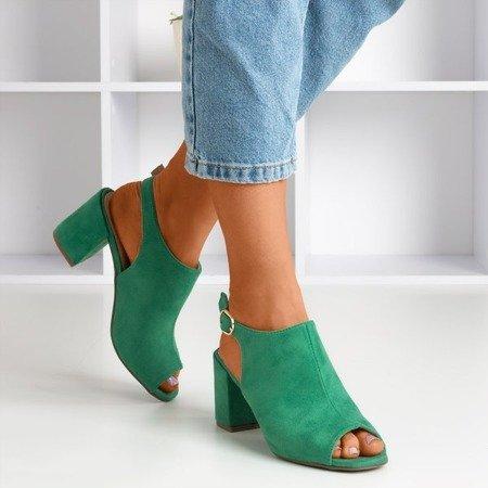 Зелені жіночі босоніжки на верхній стійці Vikash - Взуття