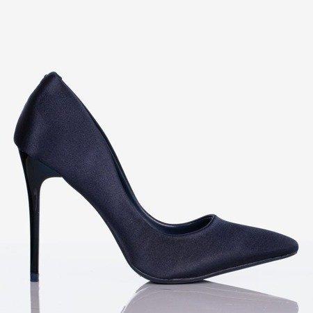 Золоті темно-сині атласні стилети - Взуття 1
