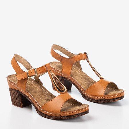 Коричневі босоніжки на посаді Assinel - Взуття 1