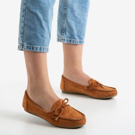 Коричневі жіночі мокасини з бантом Marci - Взуття 1