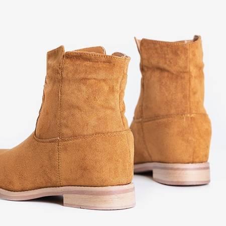 Коричневі черевики типу ковбойських на прихованій танкетці Terband - Взуття