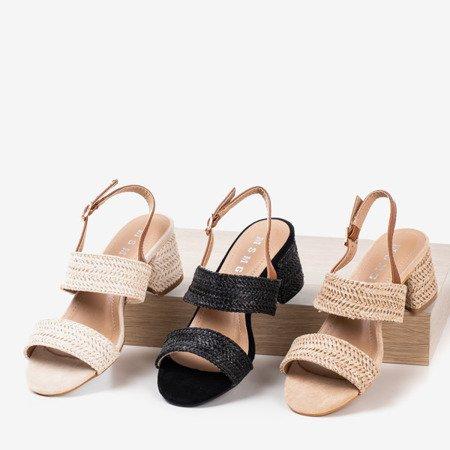 Крем-босоніжки на низькому рівні Riota - Взуття 1